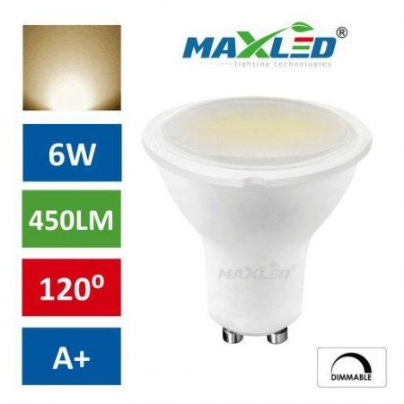 LED žarnica - sijalka GU10 6W (50W) ZATEMNILNA toplo bela 3000K