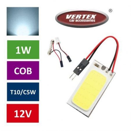 LED COB ploščica za avto C5W/W5W (T11, T10)