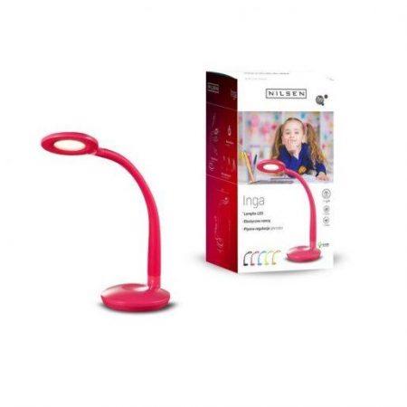 LED namizna svetilka pink z zaščito za oči