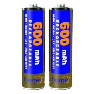 Rezervne polnilne baterije za solarne svetilke AA 600mAh 2 kosa