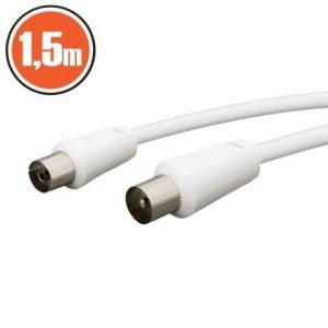 Antenski kabel 1,5m beli
