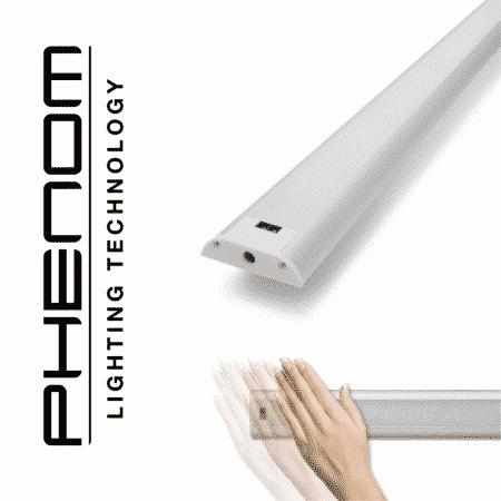 Podelementna LED svetilka 60cm 9W 4000K z brezstičnim IR senzorjem kratkega dosega (on/off/dimmer)