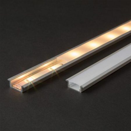 LED profil robni 23(17) x 8 mm 1m mat