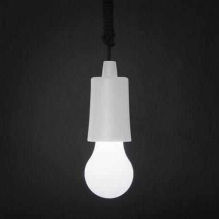 LED retro viseča baterijska svetilka bela