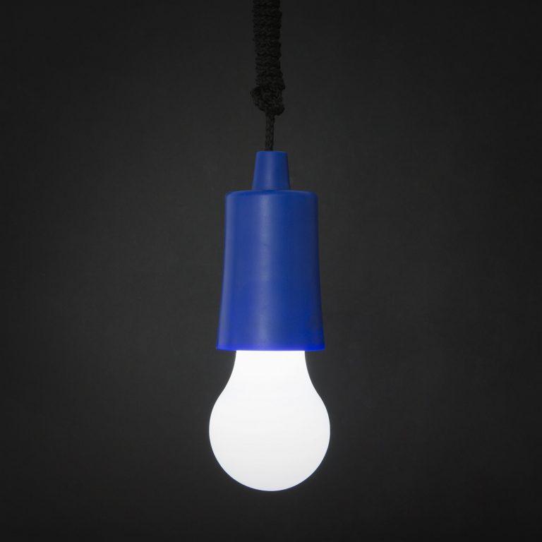 LED retro viseča baterijska svetilka modra