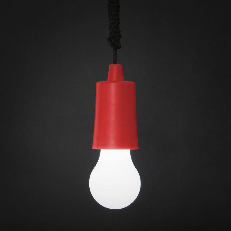 LED retro viseča baterijska svetilka rdeča