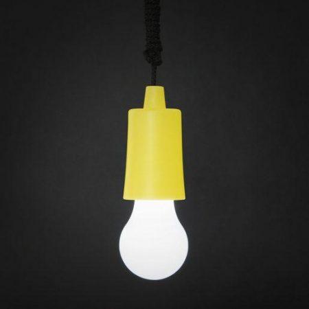 LED retro viseča baterijska svetilka rumena