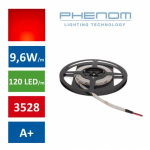 LED trak 5m 9,6W/m rdeč