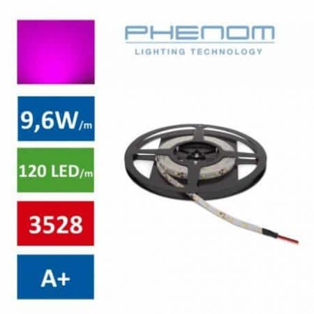 LED trak - 5m - 120 LED/m - 9,6W/m - roza