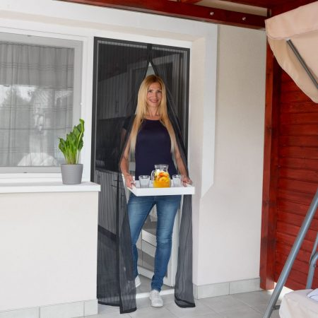 Magnetna zavesa proti komarjem za vrata 100 x 210 cm črna
