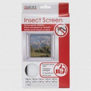 Mreža proti komarjem in mrčesu za okno 100x100cm bela