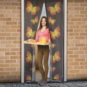 Mreža proti komarjem in mrčesu za vrata z magneti metuljčki
