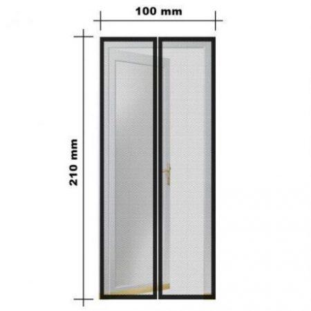 Mreža proti komarjem in mrčesu za vrata z magneti sončnice
