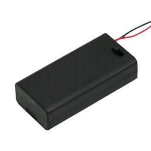 Ohišje za baterije 2xAA s stikalom