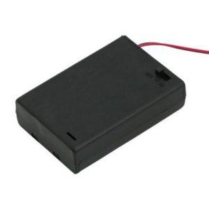 Ohišje za baterije 3xAA s stikalom