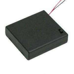 Ohišje za baterije 4xAA s stikalom