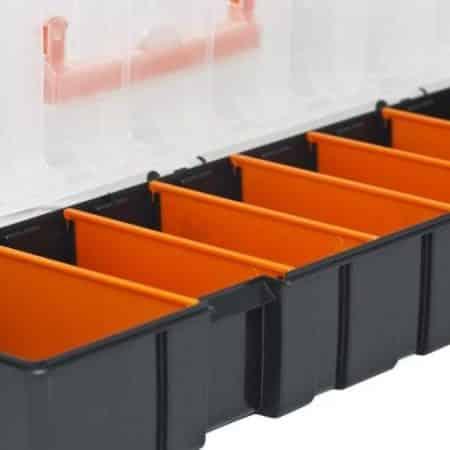Plastični organizator sedem delni