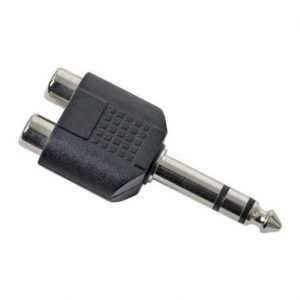 Razdelilec Y RCA / 6,3mm JACK