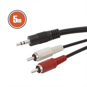 RCA / JACK kabel 5m