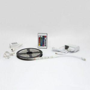 RGB LED trak 5m 5050 s kontrolerjem in napajalnikom