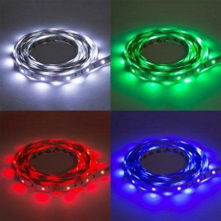 RGB LED trak 5m 5050 vodotesen z kontrolerjem in napajalnikom