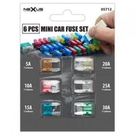 Set 6 avto mini varovalk