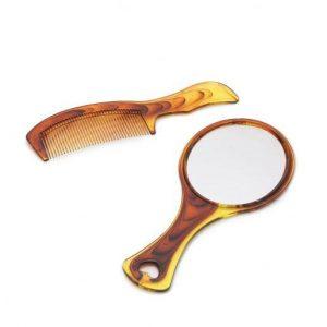 Set glavnik + ogledalo