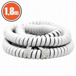Telefonski kabel 1,8m spiralni beli
