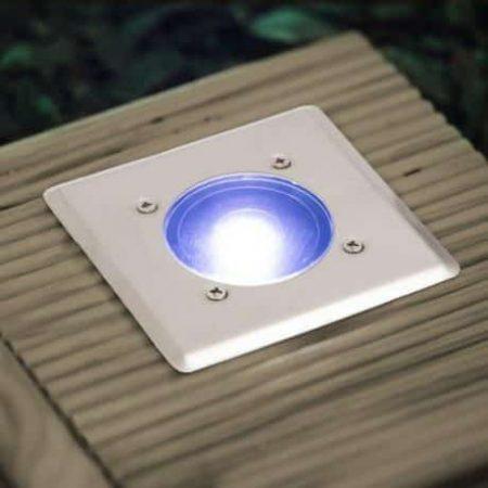 Vgradna solarna LED svetilka kvardratna