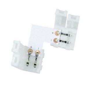 Konektor za LED trakove kotni 8mm
