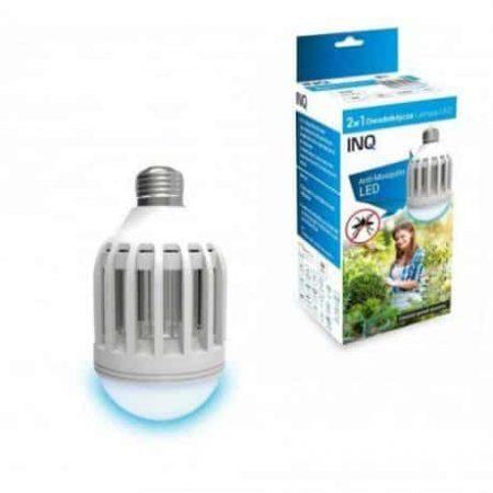 LED žarnica - sijalka E27 9W s funkcijo proti komarjem nevtralno bela 3500K INQ