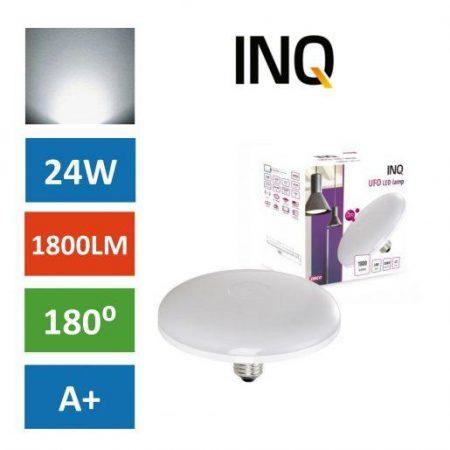 LED žarnica - sijalka E27 UFO 24W (160W) nevtralno bela 4000K INQ