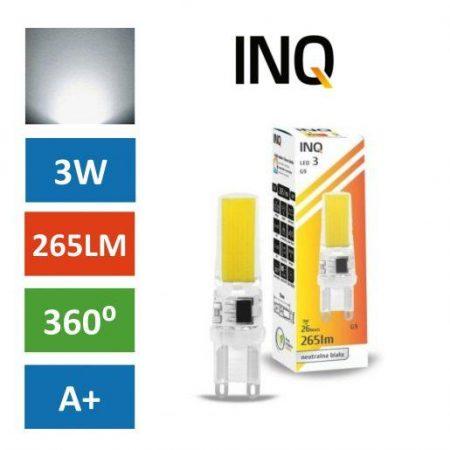 LED žarnica - sijalka G9 3W (26W) nevtralno bela INQ