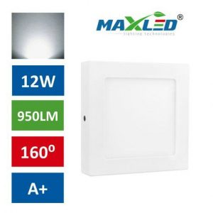 LED stropna svetilka 12W nevtralno bela kvadratna