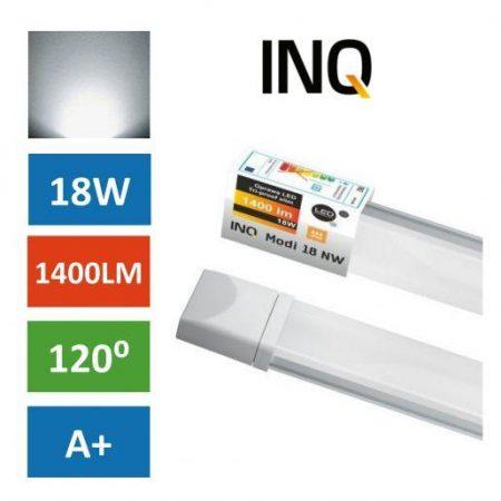 Vodotesna LED svetilka MODI 18W IP65 nevtralno bela 4000K SLIM