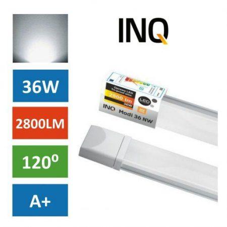 Vodotesna LED svetilka MODI 36W IP65 nevtralno bela 4000K SLIM