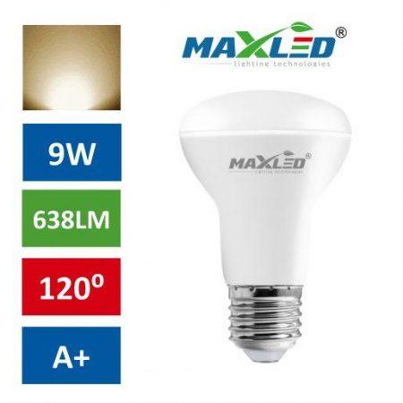 LED žarnica - sijalka E27 reflektorska 9W (55W) toplo bela 3000K