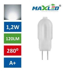 LED žarnica - sijalka G4 1,2W 12V nevtralno bela 5000K 1:1 MAX-LED