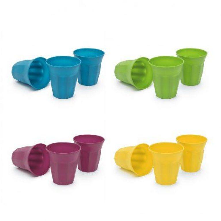 Plastični kozarci 250ml 3 kos več barv