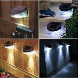 Stenska solarna LED svetilka
