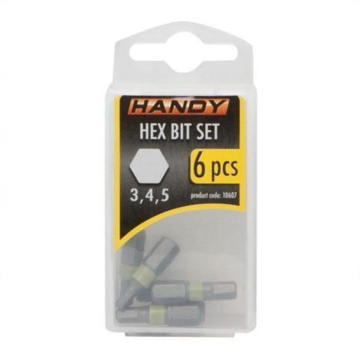 6 kosov HEX bit-nastavkov 3,4,5 mm dolžine 25mm