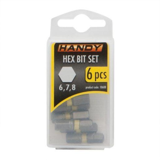 6 kosov HEX bit-nastavkov 6,7,8 mm dolžine 25mm