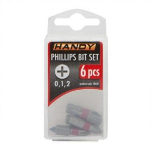 6 kosov Philips križnih bit-nastavkov PH0, PH1, PH2 dolžine 25mm