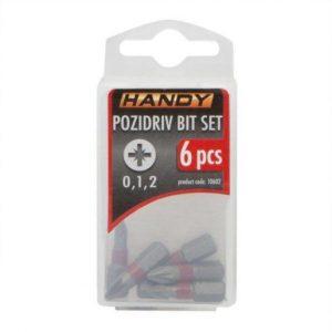 6 kosov Pozidriv bit-nastavkov PZ0, PZ1, PZ2 dolžine 25mm
