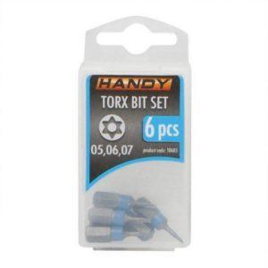 6 kosov Torx bit-nastavkov T5, T6, T7 dolžine 25mm