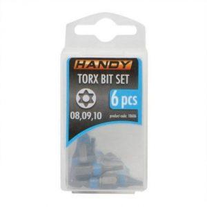 6 kosov Torx bit-nastavkov T8, T9, T10 dolžine 25mm