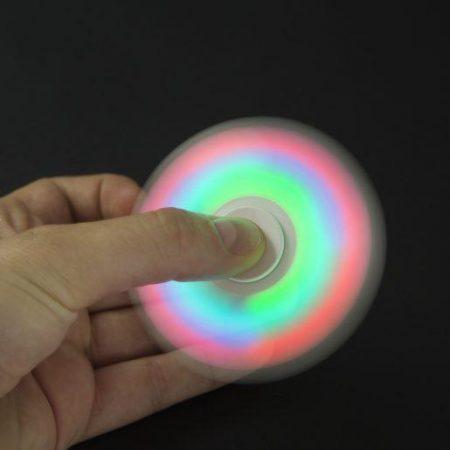 Igrača za razvijanje fine motorike prstov Fidget Spinner z LED lučko