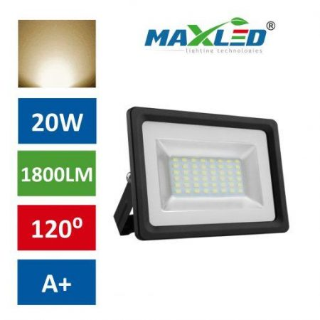 LED reflektor SMD FLOW 20W toplo beli 3000K 35mm