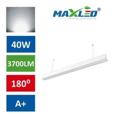 LED viseča svetilka LINEAR PREMIUM 40W 4000K bela