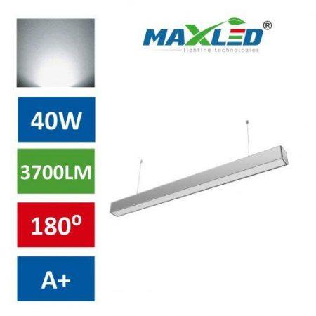 LED viseča svetilka LINEAR PREMIUM 40W 4000K srebrna
